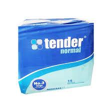 NAPPY TENDER NORMAL 3 DROPS LRG 100-150 CM PCK 15