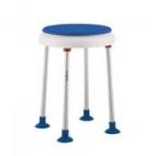 SHOWER STOOL SWIVEL SEAT BLUE 135 KGS