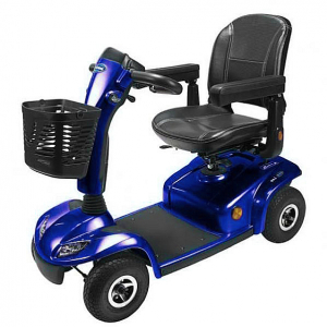 SCOOTER LEO 4 WHEEL BLUE BATTERIES INCLUDED