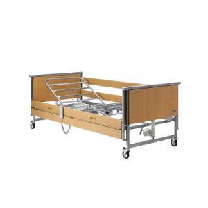 BED ACCENT 4 SECTION AND WOODEN SIDE RAILS
