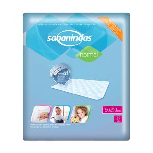 INCONTINENCE SHEETS 60 X 90 CM SABANINDAS PCK 25