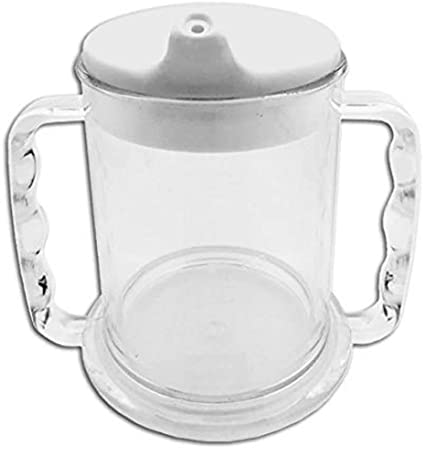 CUP WITH TWO HANDLES TRANSPARENT
