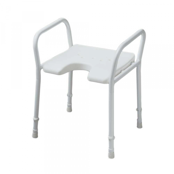 SHOWER STOOL WITH ARMS ADJUSTABLE