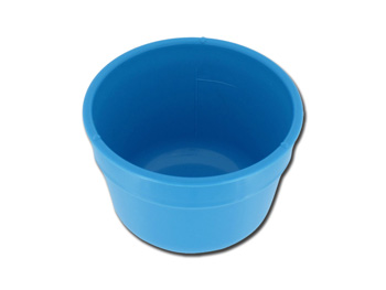 GALLIPOT 100MM BLUE PLASTIC