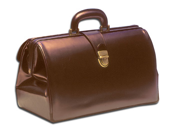 DOCTOR'S LEATHERBAG CHESTNUT COLOUR