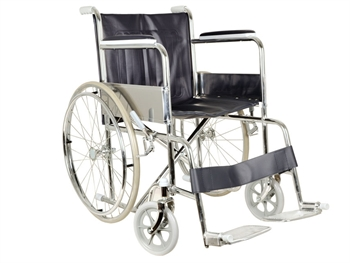 WHEELCHAIR SELF PROPEL FIXED ARMS AND FOOT REST
