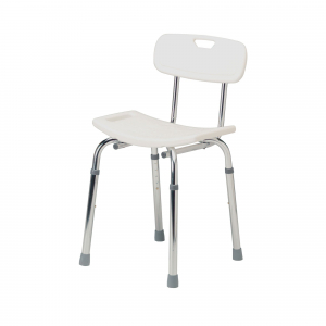 SHOWER CHAIR WITH BACK RECTANGUALR SEAT 100KG