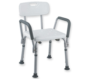SHOWER CHAIR WITH BACKREST AND ARMREST