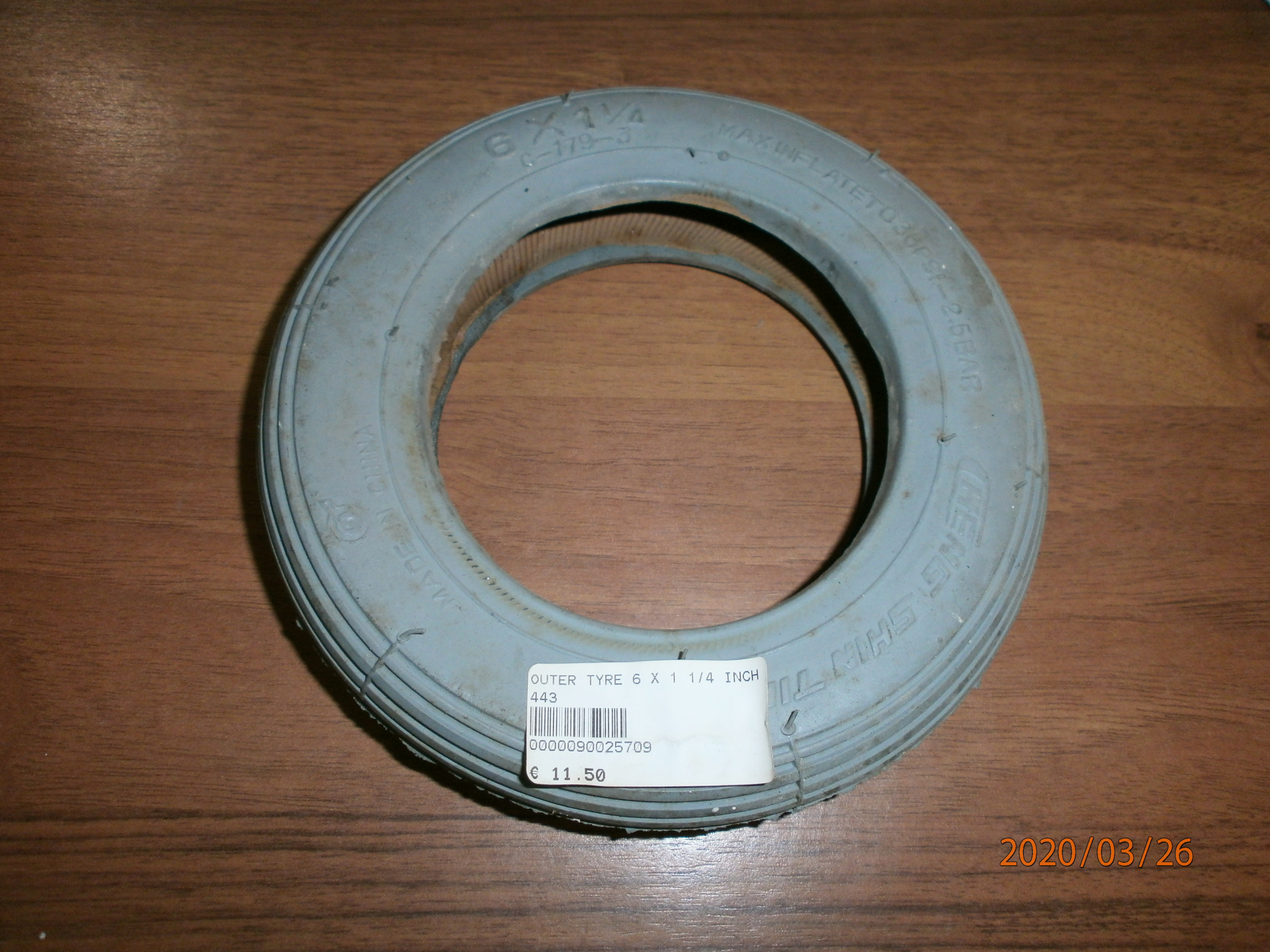 TYRE OUTER 6 X 1 1/4 INCH