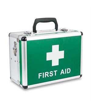 first aid box aluminium small