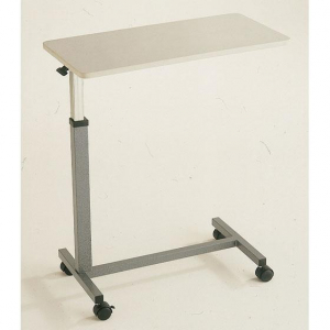 TABLE GREY WITH CASTORS FOR HOSPITAL BED