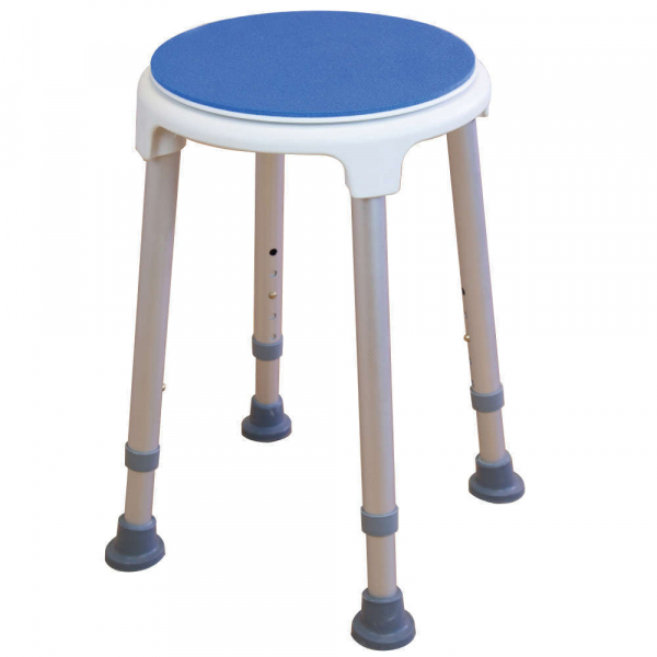 SHOWER STOOL WITH SWIVEL SEAT