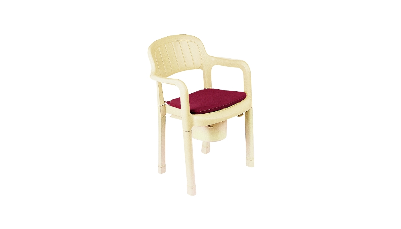 SHOWER CHAIR COMMODE PLASTIC HMS