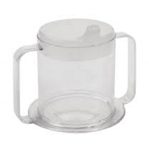 CUP CLEAR WITH 2 HANDLE