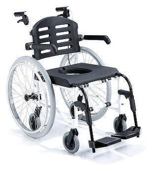 COMMODE ON WHEELS COMFORT SEAT WIDTH 18